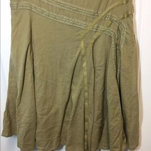 DKNY JEANS Size 6 OLIVE GREEN Skirt B2-361